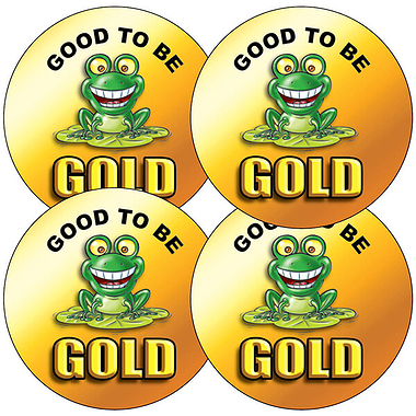 Good to be Gold Stickers (35 Stickers - 37mm)