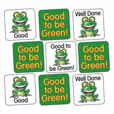 Good to be Green Stickers (140 Stickers - 16mm)