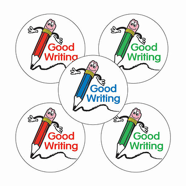 Good Writing Stickers - Pencil Design (70 Stickers - 25mm)