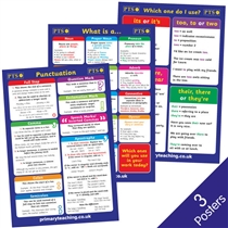 Grammar, Punctuation and Literacy Poster Pack (3 Posters - A2)