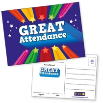 Great Attendance Postcards Home (20 Postcards - A6)