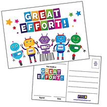 Great Effort Postcards Home (20 Postcards - A6)
