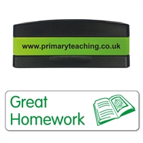 Great Homework Stakz Stamper - Green Ink (44mm x 13mm)