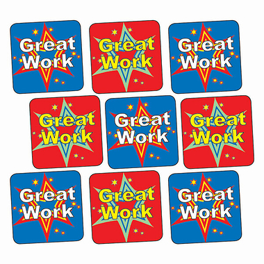Great Work Stickers (140 Stickers - 16mm)
