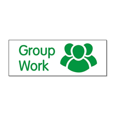 Group Work Stamper - Green Ink (38mm x 15mm)