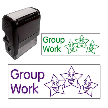 Group Work Stamper - Stars (38mm x 15mm)