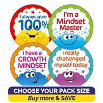 Growth Mindset Brain Stickers (32mm)