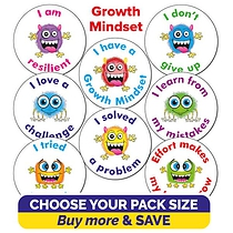 Growth Mindset Stickers (25mm)