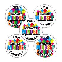 Growth Mindset Superstar Stickers (30 Stickers - 25mm)