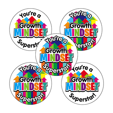 Growth Mindset Superstar Stickers (30 Stickers - 25mm)