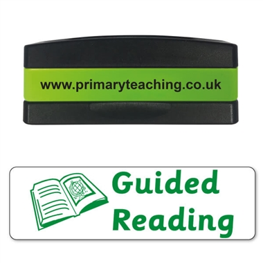 Guided Reading Stakz Stamper - Green Ink (44mm x 13mm)