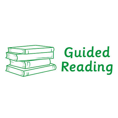 Guided Reading Stamper - Green Ink (10mm x 35mm)