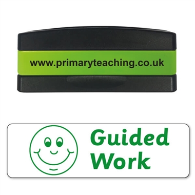 Guided Work Stakz Stamper - Green Ink (44mm x 13mm)