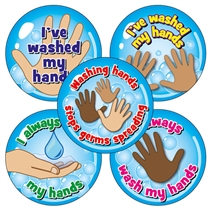 Hand Washing Stickers (20 Stickers - 32mm)