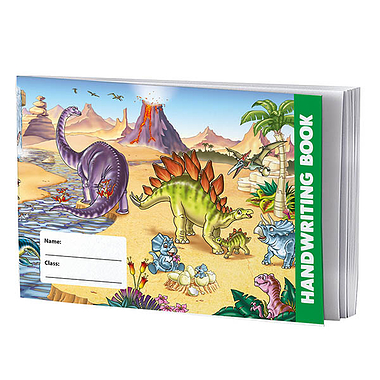 Handwriting Book - Dinosaur (A5 - 32 Pages)
