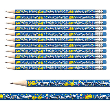 Happy Birthday Emoji Pencils (12 Pencils) Brainwaves