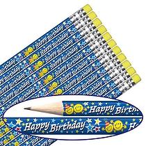 Happy Birthday Emoji Pencils (12 Pencils) Brainwaves