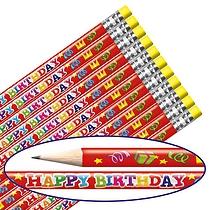 Happy Birthday Foil Pencils (12 Pencils) Brainwaves