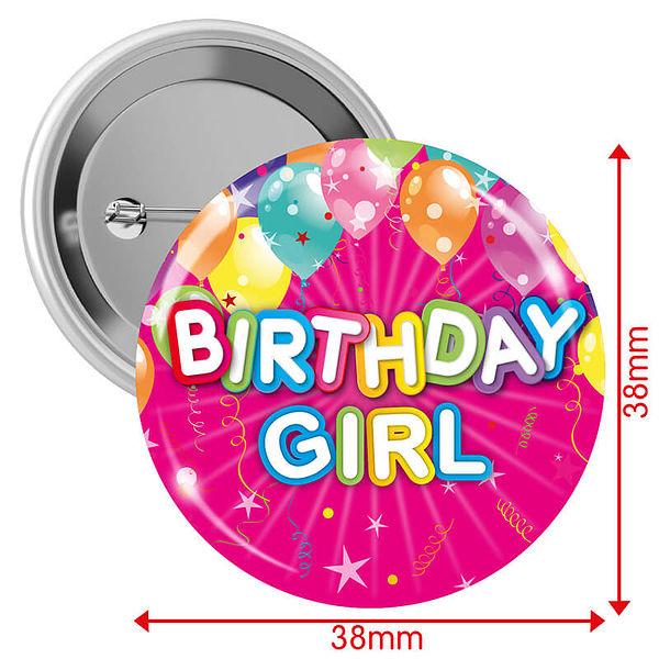 Happy Birthday Girl Badges
