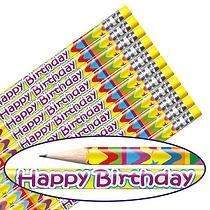Happy Birthday Pencils BACK IN STOCK MID APRIL (12 Pencils) Brainwaves
