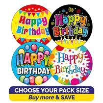 Happy Birthday Stickers (32mm) Brainwaves