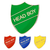 Head Boy Enamel Badge (30mm x 26.4mm)