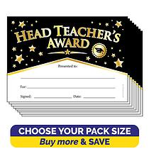 Head Teacher's Award Black & Gold Certificates (A5)