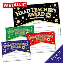 Head Teacher's Award Foil Certificates (A5 - 20 Certificates)