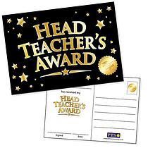 Head Teacher's Award Postcards - Black and Gold (20 Postcards - A6)