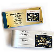 Head Teachers Award Raffle Tickets - Book of 100 Easy-Tear