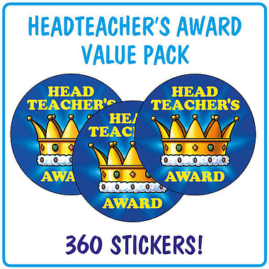 Head Teacher's Award Stickers Value Pack (280 Stickers - 37mm)