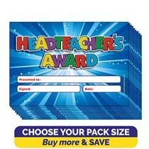 Headteacher Award Glitter Certificates (A5)