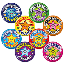 Headteacher's Award Badges - Maxipack (40 Badges - 38mm) Brainwaves