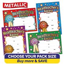 Headteacher's Award Metallic Certificates (A5) Brainwaves