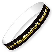 Headteacher's Award Wristbands - Black and Gold (40 Wristbands - 220mm x 13mm) Brainwaves