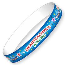 Headteacher's Award Wristbands - Blue (10 Wristbands - 220mm x 13mm) Brainwaves