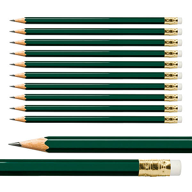 Hexagon Pencils - Green (10 per Pack)