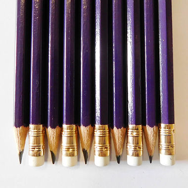 Hexagon Pencils - Purple (10 per Pack)