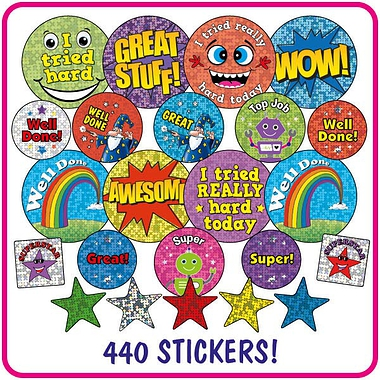Holographic and Metallic Stickers Value Pack (336 Stickers)