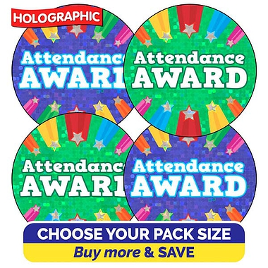 Holographic Attendance Award Stickers (37mm)