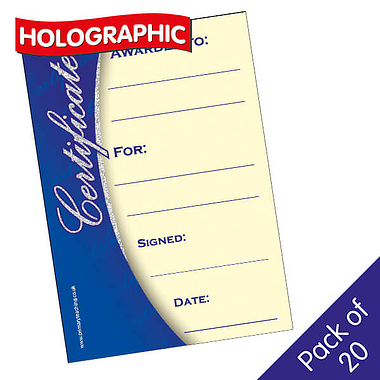 Holographic Classic Design Certificates (20 Certificates - A5)