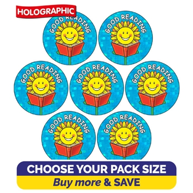 Holographic Good Reading Stickers Value Pack (20mm)