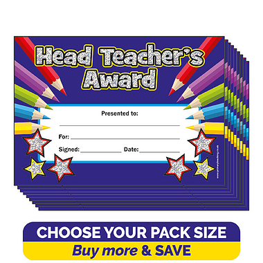 Holographic Head Teacher's Award Certificates (A5)