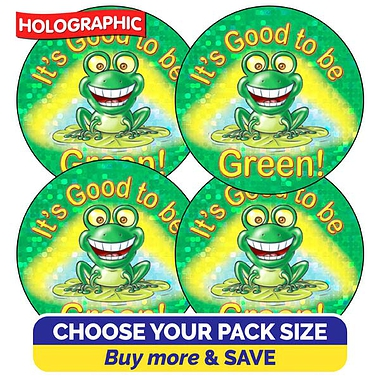 Holographic It's Good to be Green Stickers (37mm)