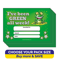 Holographic 'I've Been Green All Week' Certificates (A5)