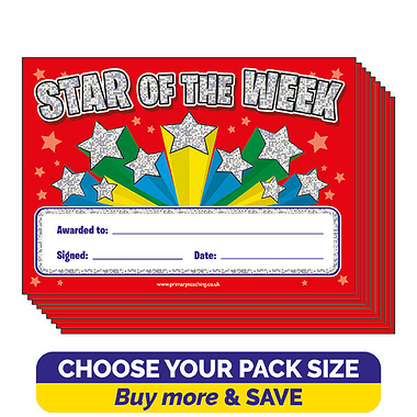 Holographic 'Star of the Week' Certificates (A5)