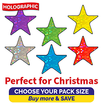 Holographic Star Stickers (20mm)