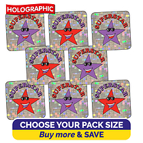 Holographic Superstar Stickers (16mm)