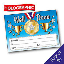 Holographic Well Done Certificates (20 Certificates - A5)