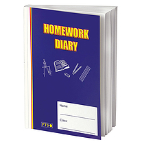 Homework Diary - Blue (A5 - 104 Pages)